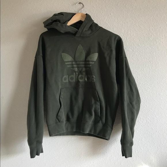 adidas Sweaters - Adidas Army Green Sweatshirt 098db75e4d